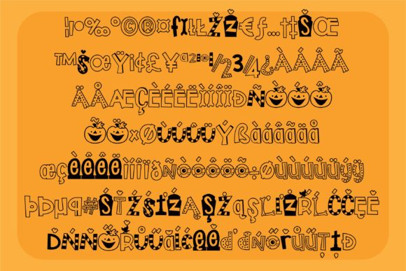 Print on Demand: Trick or Treats Display Font By Illustration Ink - Image 3