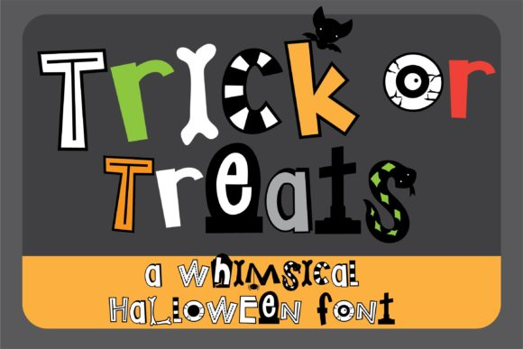 Print on Demand: Trick or Treats Display Schriftarten von Illustration Ink