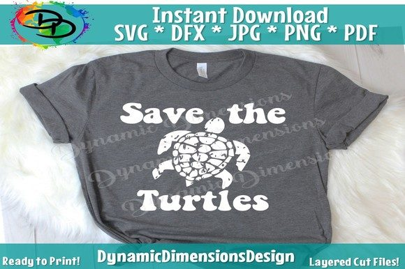 Turtle Save the Turtles VSCO Girl Graphic Crafts By dynamicdimensions