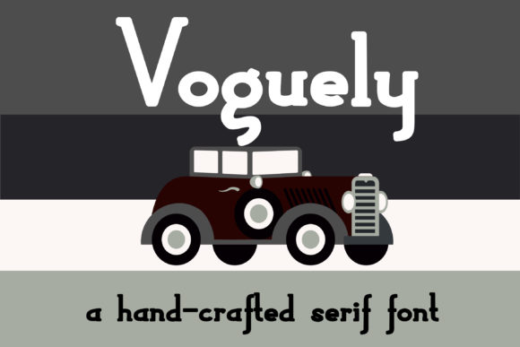 Print on Demand: Voguely Serif Font By Illustration Ink