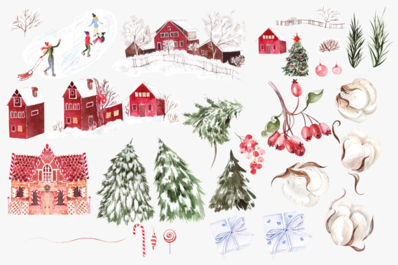 Watercolor Merry Christmas Graphic Objects By Knopazyzy - Image 3