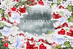 Watercolor Merry Christmas Graphic By Knopazyzy