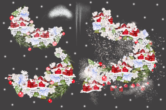 Watercolor Merry Christmas Graphic Objects By Knopazyzy - Image 8