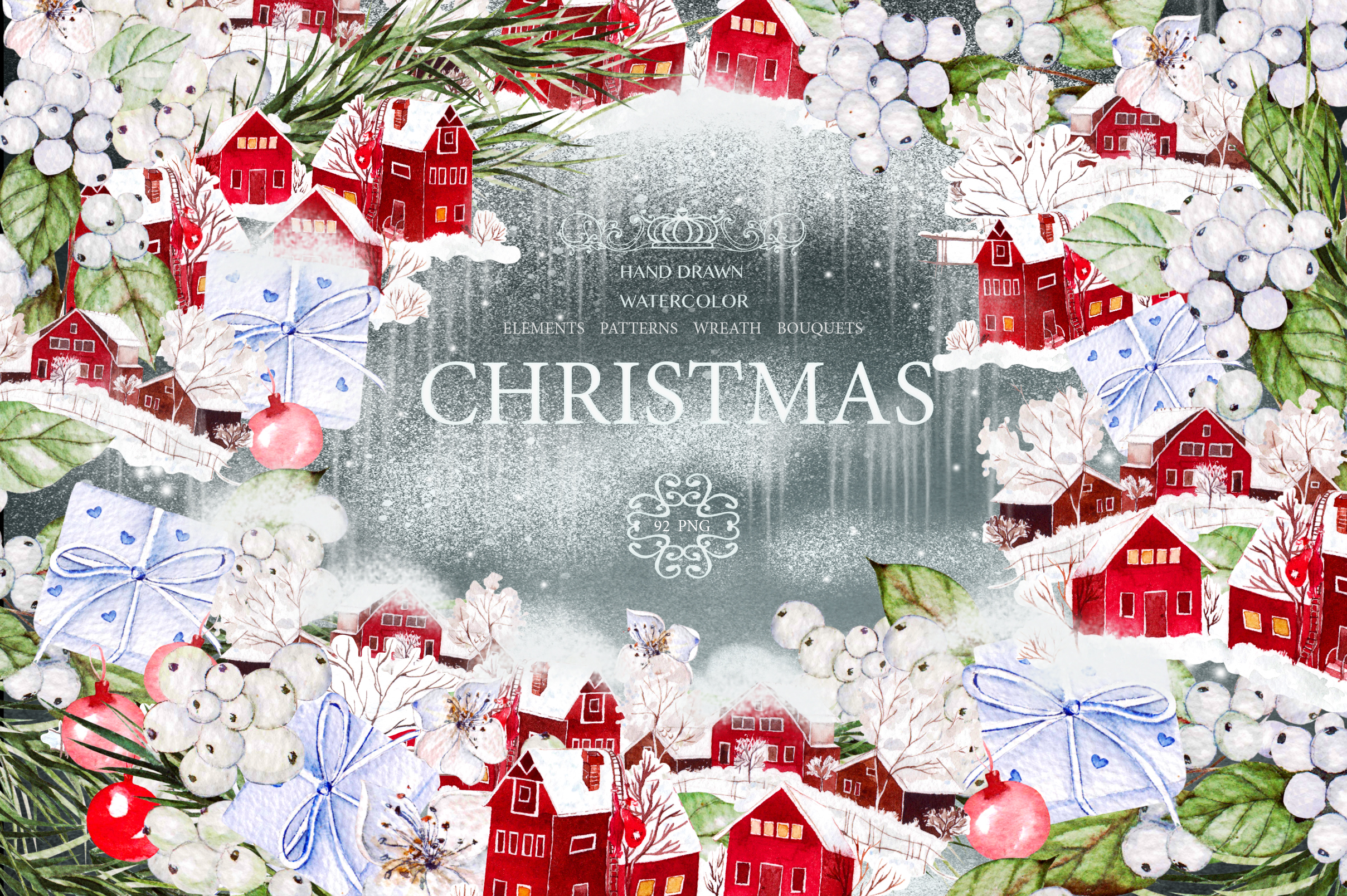 Download Free Watercolor Merry Christmas Graphic By Knopazyzy Creative Fabrica SVG Cut Files