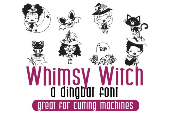 Print on Demand: Whimsy Witch Dingbats Fuente Por Illustration Ink