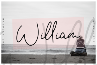 Print on Demand: William Script & Handwritten Font By besttypeco