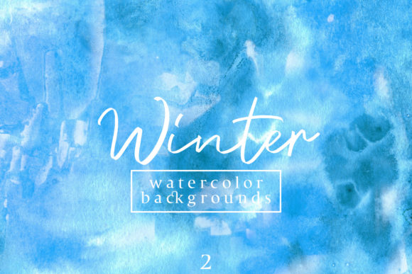 Print on Demand: Winter Watercolor Backgrounds 2 Graphic Backgrounds By freezerondigital - Image 1
