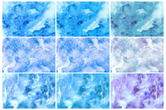 Print on Demand: Winter Watercolor Backgrounds 2 Graphic Backgrounds By freezerondigital - Image 2