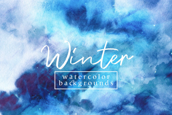 Winter Watercolor Backgrounds Graphic By freezerondigital Image 1