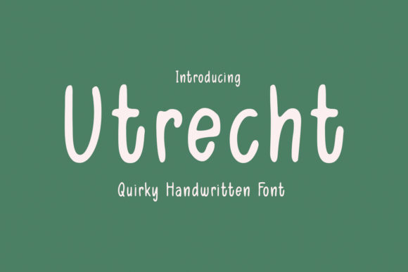 Print on Demand: Utrecht Script & Handwritten Font By Cititype