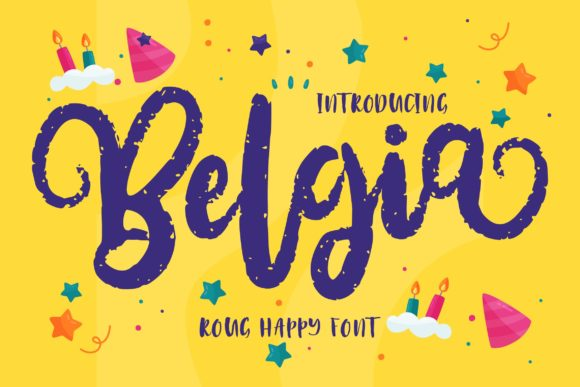 Print on Demand: Belgia Script & Handwritten Font By Vunira