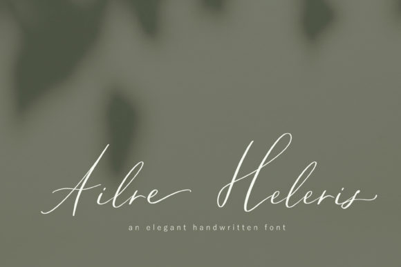 Print on Demand: Ailre Heleris Script & Handwritten Font By Primafox Design