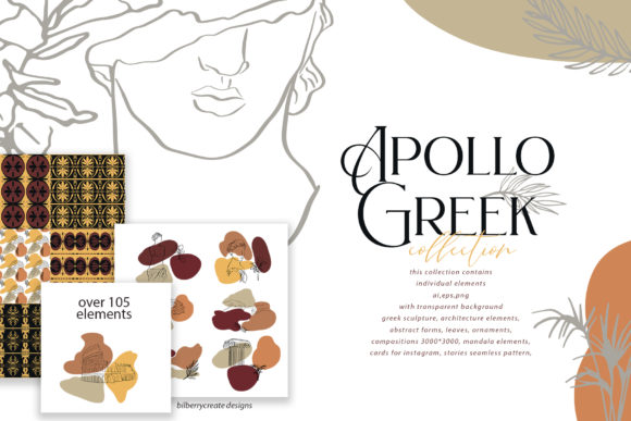 Apollo Greek Collection Graphic Illustrations By BilberryCreate