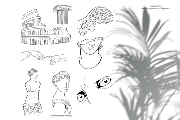 Apollo Greek Collection Graphic Illustrations By BilberryCreate - Image 10