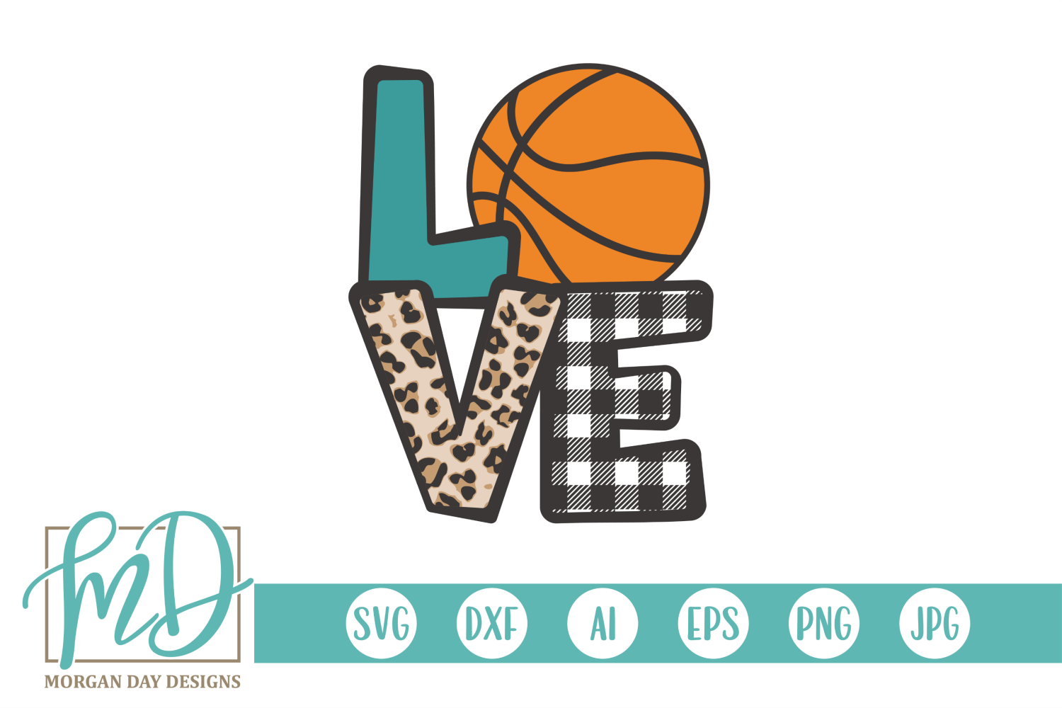 Download Free Basketball Love Graphic By Morgan Day Designs Creative Fabrica for Cricut Explore, Silhouette and other cutting machines.
