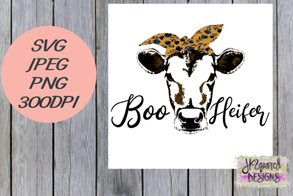 Print on Demand: Boo Heifer Graphic Objects By jk2quareddesigns - Image 1