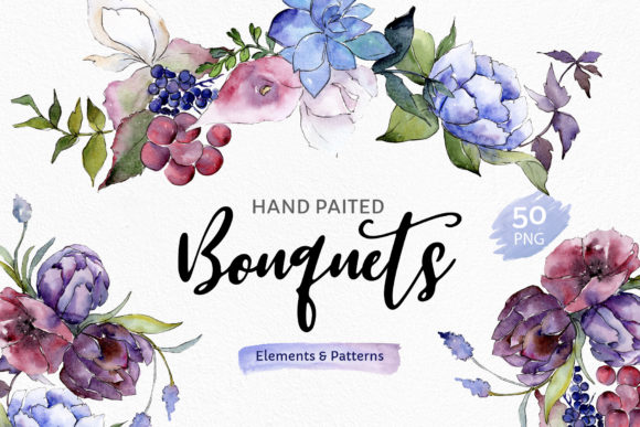 Print on Demand: Bouquet of Flowers Touching Your Lips Graphic Illustrations By MyStocks