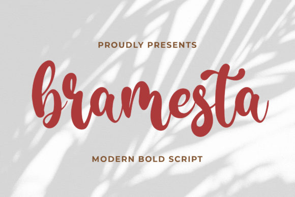 Print on Demand: Bramesta Script & Handwritten Font By Bangkit Setiadi