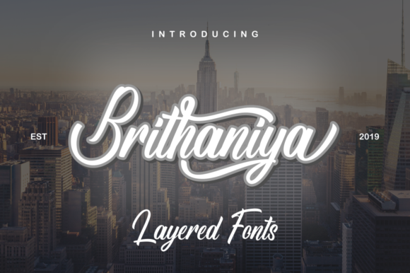 Print on Demand: Brithaniya Script & Handwritten Font By kammaqsum