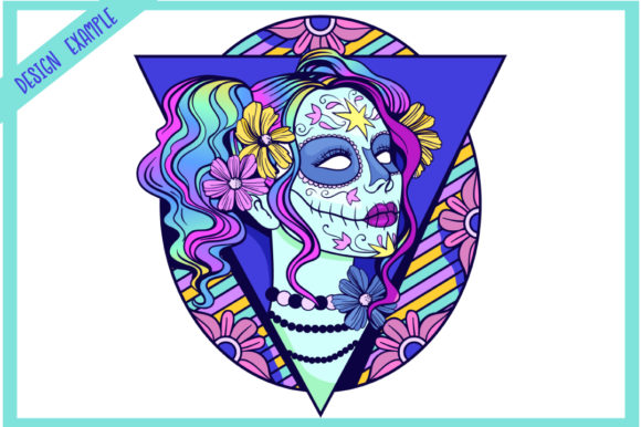 Print on Demand: Calavera Ladies Collection 21 Elements Graphic Coloring Pages & Books Adults By tatiana.cociorva - Image 3