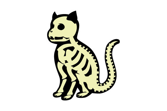 Cat Skeleton Halloween Craft Cut File By Creative Fabrica Crafts