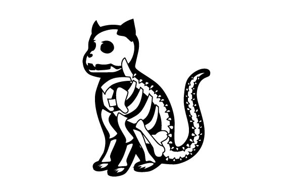 Cat Skeleton Halloween Craft Cut File By Creative Fabrica Crafts - Image 2
