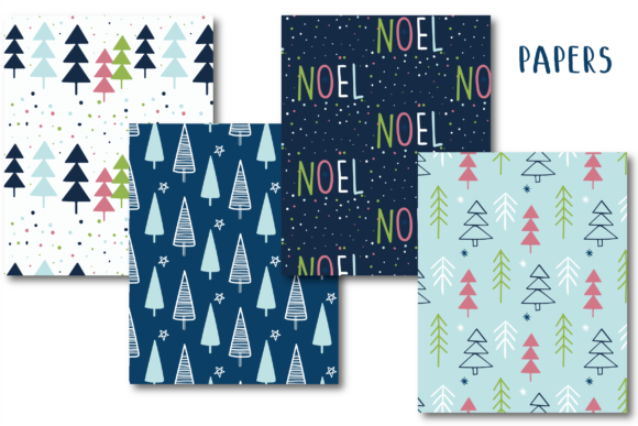 Print on Demand: Christmas Pattern Graphic Patterns By poppymoondesign - Image 2