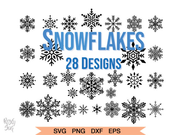 Download Free Christmas Snowflakes Graphic By Roxysvg26 Creative Fabrica for Cricut Explore, Silhouette and other cutting machines.