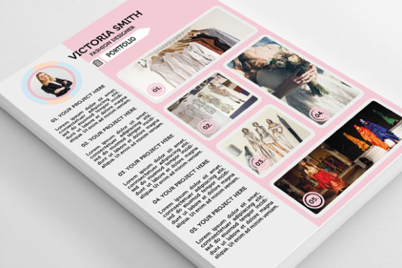 Download Free Clean Modern Resume Feminine Woman Graphic By Dr Iconsart for Cricut Explore, Silhouette and other cutting machines.