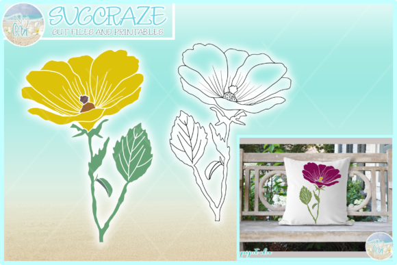 Print on Demand: Cosmos Flower Floral Garden Graphic Crafts By Harbor Grace Designs
