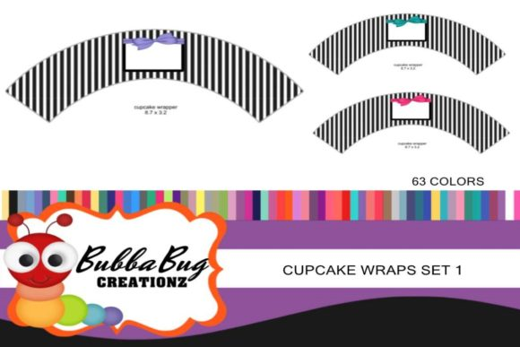 Cupcake Wraps Set 1 Graphic Crafts By BUBBABUG