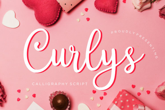 Print on Demand: Curlys Script Script & Handwritten Font By CreatypeStudio