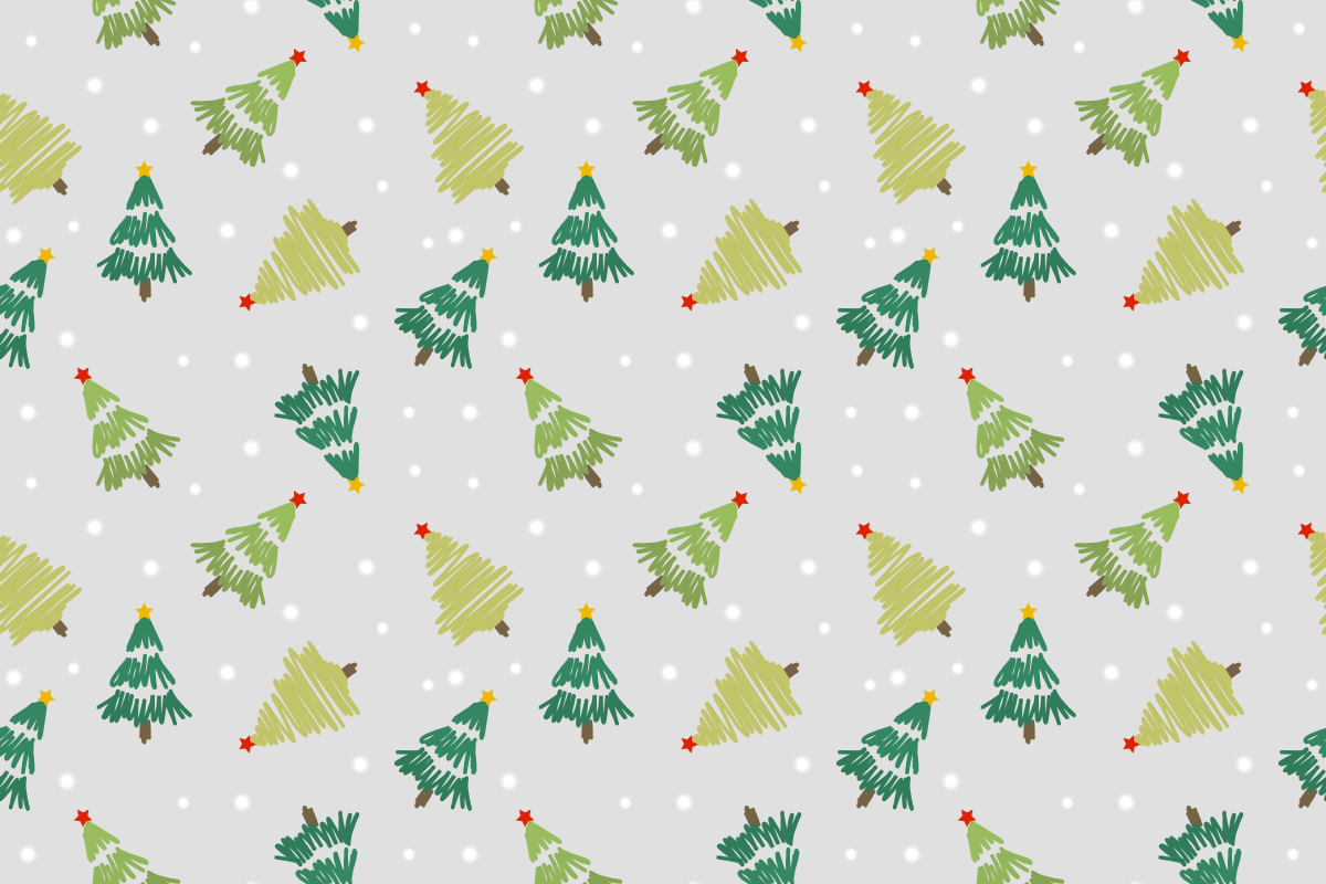 Cute Christmas Tree Seamless Pattern (Graphic) by ...