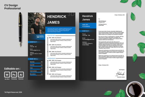 Cv Design Professional Graphic Print Templates By fadilahridwan69
