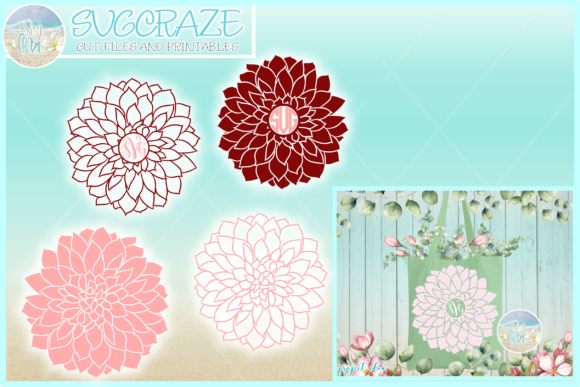 Print on Demand: Dahlia Flower Floral Garden Graphic Crafts By Harbor Grace Designs