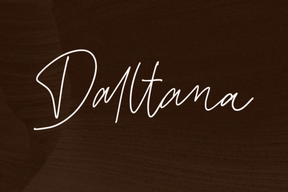 Print on Demand: Daltana Script & Handwritten Font By sabrcreative - Image 1