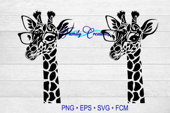 Giraffes Graphic Crafts By Family Creations - Image 1