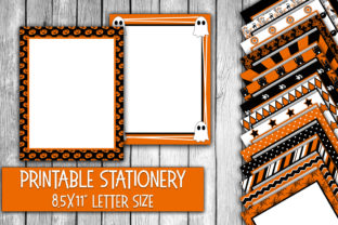 Halloween Digital Paper Stationery Graphic By oldmarketdesigns