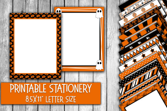 Halloween Digital Paper Stationery Graphic Crafts By oldmarketdesigns