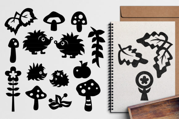 Print on Demand: Hedgehog Monogram Graphic Illustrations By Revidevi