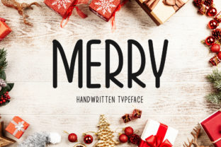 Print on Demand: Merry Display Font By Instagram Fonts