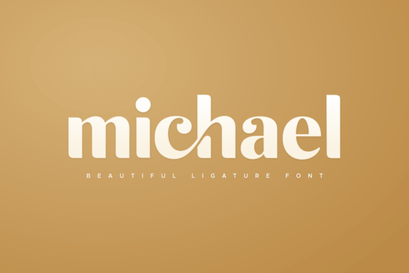 Print on Demand: Michael Display Font By sensatype