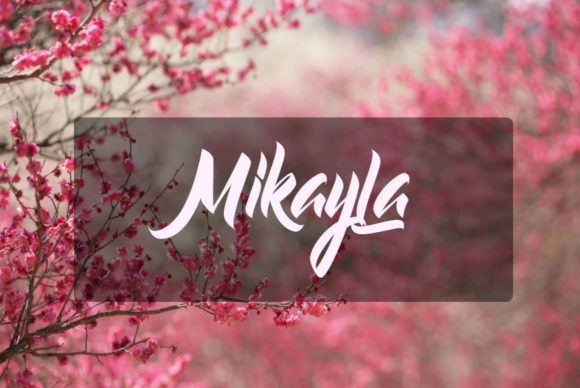 Print on Demand: Mikayla Script & Handwritten Font By in.maddesigns - Image 1