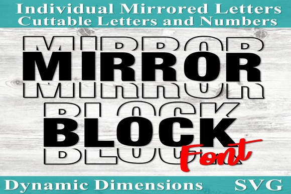 Mirror It Font Mirrored Letters Sports SVG File