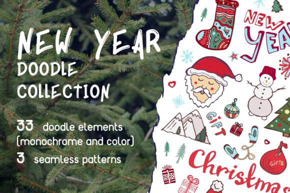 Print on Demand: New Year Doodles and Patterns Graphic Illustrations By worldion