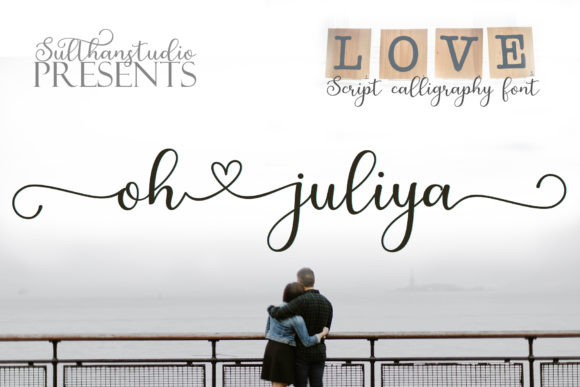 Print on Demand: Oh Juliya Script & Handwritten Font By Sulthan Studio