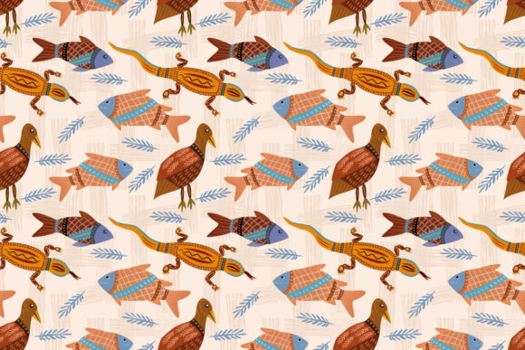 Download Free Cute Animal Seamless Pattern Graphic By Ranger262 Creative Fabrica for Cricut Explore, Silhouette and other cutting machines.