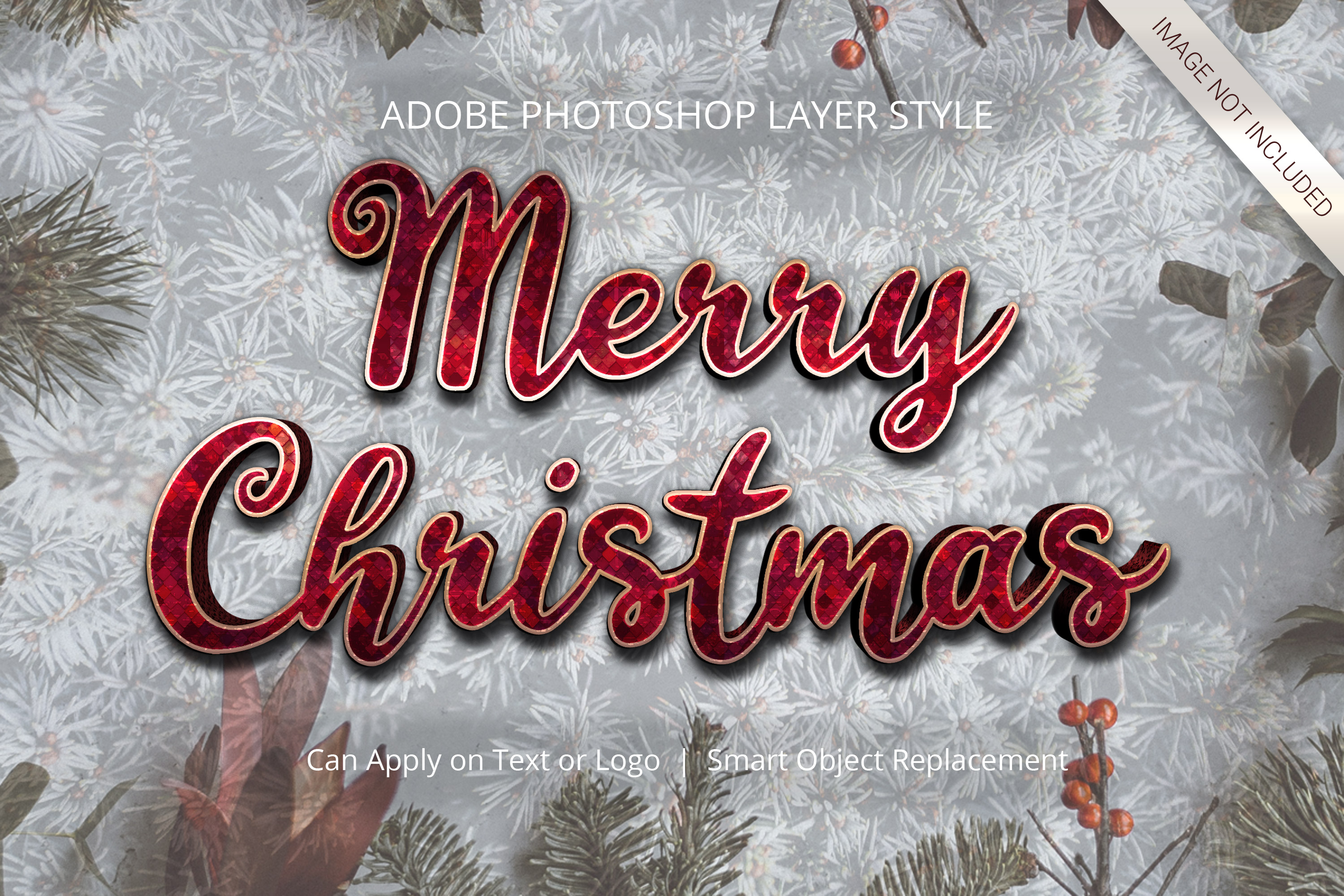 Download Free Photoshop Christmas Winter Layer Style Graphic By Anomali Bisu SVG Cut Files