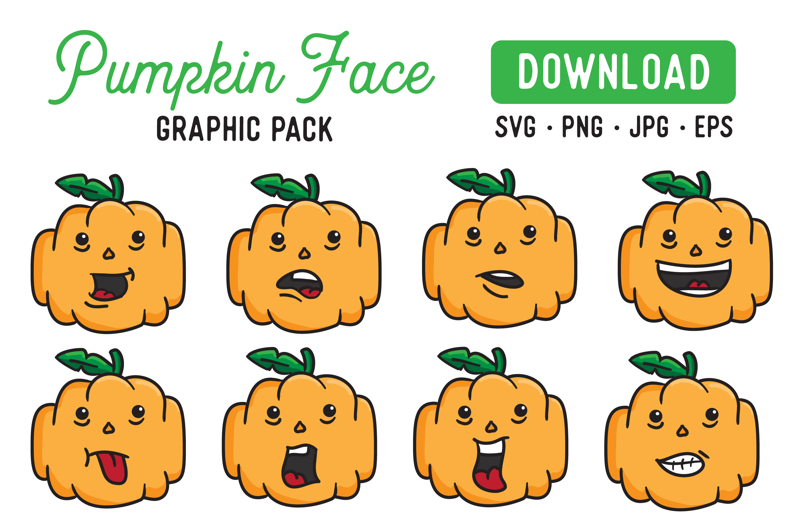 Download Free Pumpkin Vector Clipart Pack Graphic By The Gradient Fox for Cricut Explore, Silhouette and other cutting machines.