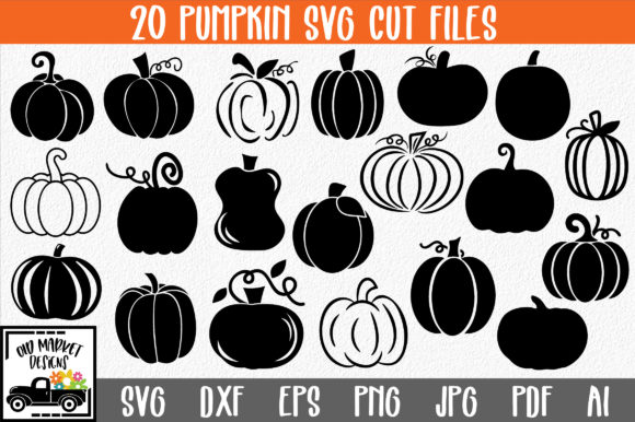 Pumpkins Cut File Bundle Graphic Crafts By oldmarketdesigns - Image 1